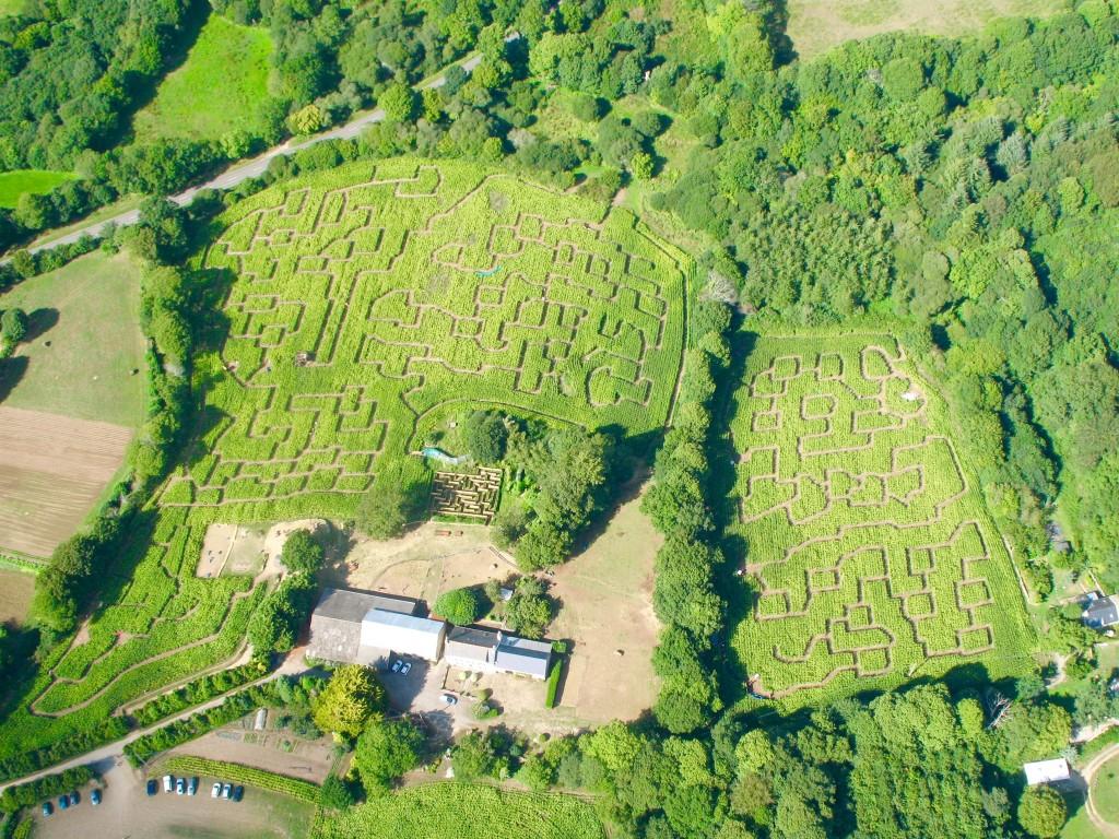 Le labyrinthe de Pont-Aven et sa ferme